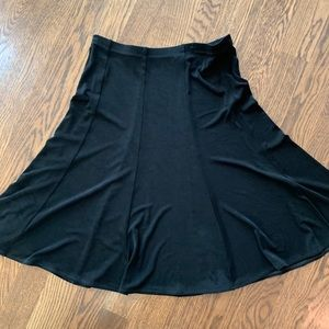 Black A-line skirt.  Chico's size 2.